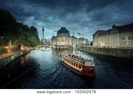 Museum Island on Spree river and Tv Tower view, Berlin