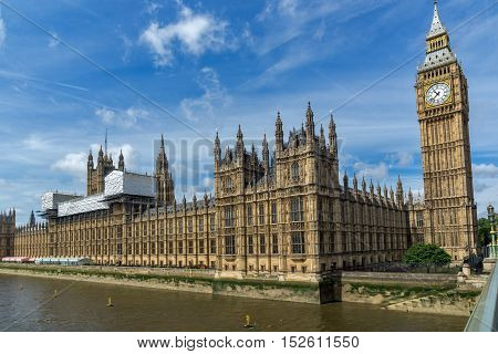 Houses of Parliament, Palace of Westminster,  London, England, Great Britain