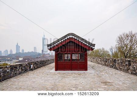 View of Nanjing ancient city wall in China