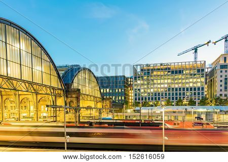 LONDON - JULY 06 2016: The interior of Kings cross st pancras international station which is a main station in London where you can take the Eurostar train from on July 06 2016 in London.