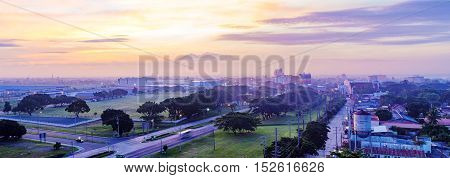 CLARK PHILIPPINES - JUNE 16: Angeles city is a popular tourist destination within Clark economic zone. Tourists travel here for bars and nightlife on June 16 2016 in Clark.