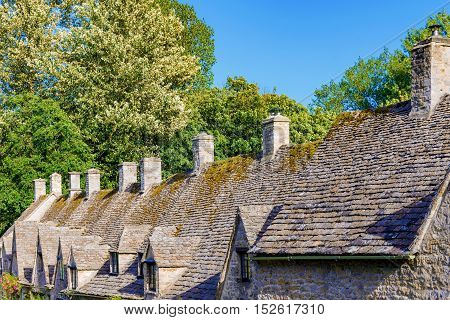 Traditional English cottages in cotswolds United Kingdom