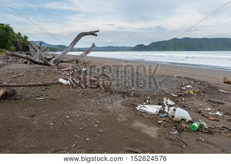 Rubbish On A Beach After A Storm