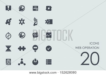 web operation vector set of modern simple icons