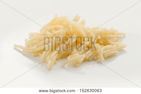 Isolated boiled vermicelli on the white plate