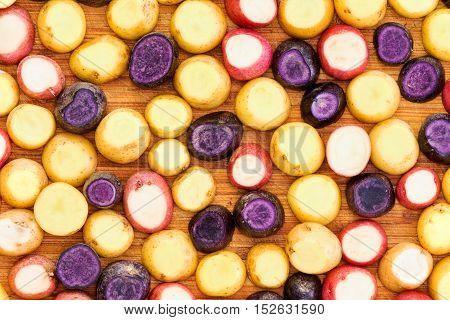 Full Frame Potato Slice Background