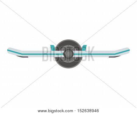 Monowheel balance board icon. Hoverboard vector illustration. Alternative city transport.