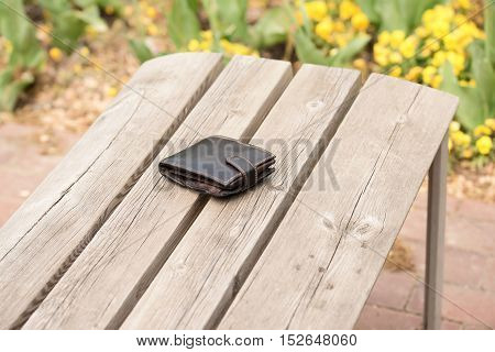 Lost Wallet On Empty Bench