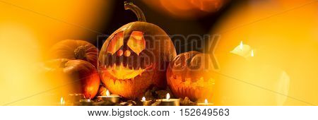 Halloween Pumpkin With Scary Smile