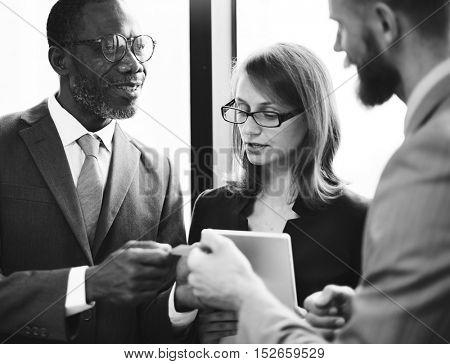 Colleagues White Collar Worker Teamwork Ideas Concept
