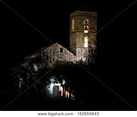 Church Of Barruera N The Catalan Pyrenees. Spain