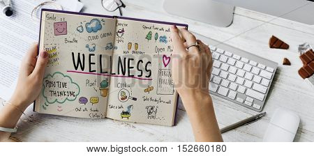 Wellness Exercise Health Lifestyle Nutrition Concept