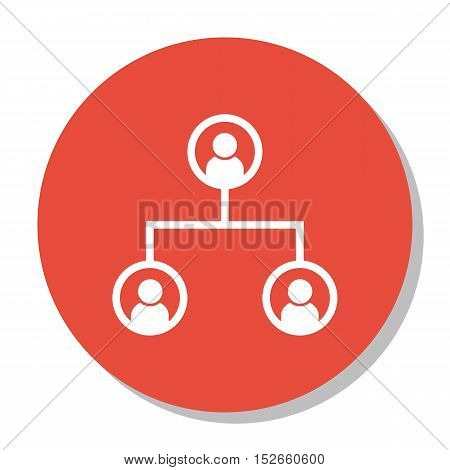 Vector Illustration Of Human Resources Symbol On Organisation Structure Icon. Premium Quality Isolat
