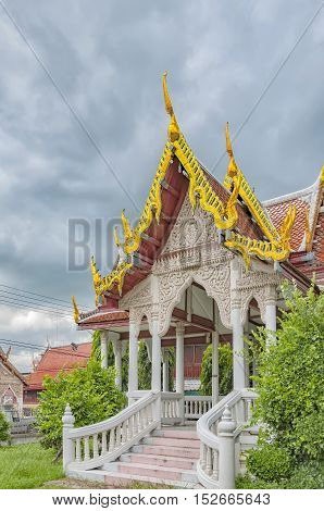 A buddhist temple situated in the city of Phetchaburi in Thailand.