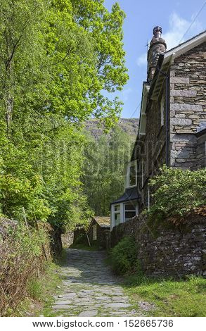 Cottage near Helm Crag, The Lake District, Cumbria, England