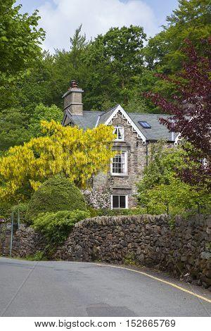 Cumbrian house, Grasmere, The Lake District, Cumbria, England