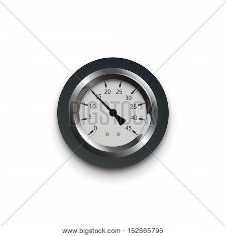 illustration of a pressure meter gauge Vector Illustration