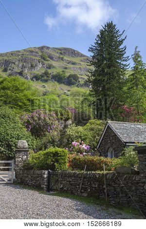 Old cottage near Helm Crag, Grasmere, The Lake District, Cumbria, England