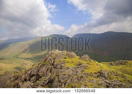 View from Helm Crag, The Lake District, Cumbria, England