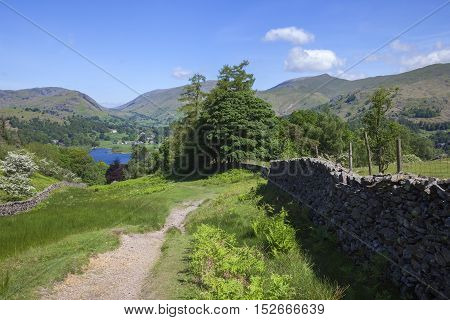 View towards Grasmere, The Lake District, Cumbria, England