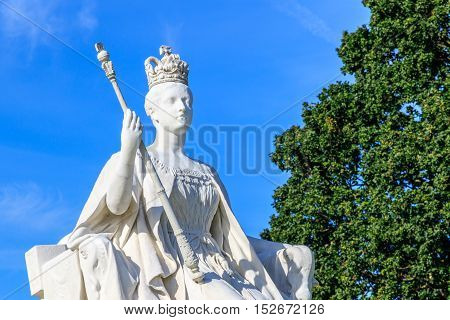 Queen Victoria Statue in front of Kensington Palace in London poster