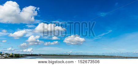 Panorama cloudscape in bluesky background on summer.