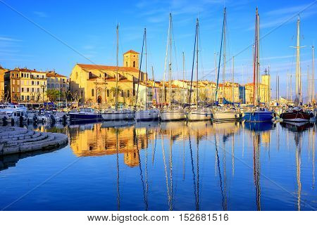 Yachts In Old Town Port Of La Ciotat, Marseilles, France