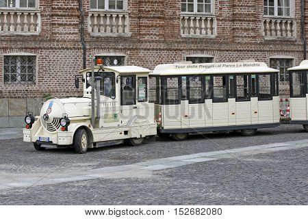 Venaria Reale, Italy - Tourist Train
