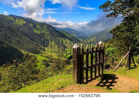 On The Top Of The Mountain, Cocora Valley, Colombia, Mountain Top View, Volcano View