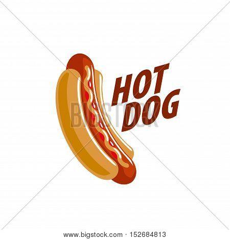 logo design pattern hot dog. Vector illustration of icon