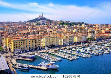 View Of The Historical Old Town Of Marseilles, France