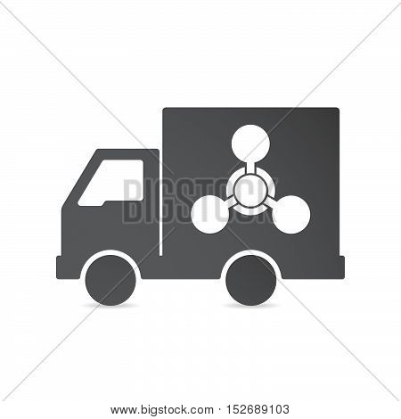 Isolated Delivery Truck With A Chemical Weapon Sign