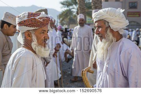 Nizwa Oman October 13th 2016: omani man at the market