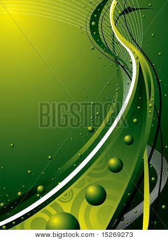 abstract green flowing design ideal as a background or desktop