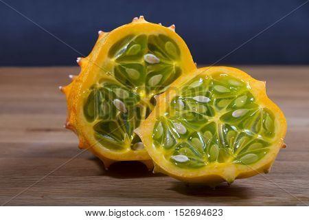 African Cucumber, Frucht, Obst, Essen, Lebensmittel, tropisch, freigestellt