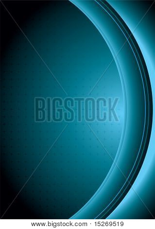 Abstract technical background in greeny blue with copy space poster
