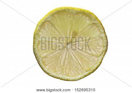 Zitronenschreibe, freigestellt, weißer Hintergrund, tropisch, Früchte, Obst