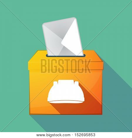 Long Shadow Ballot Box With An Infinite Sign
