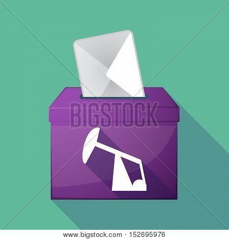 Long Shadow Ballot Box With A Horsehead Pump