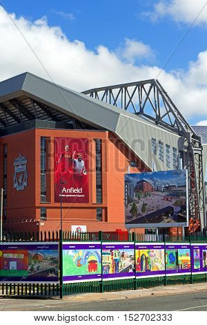 LIVERPOOL UK 17TH SEPTEMBER 2016. Liverpool Football Club's new