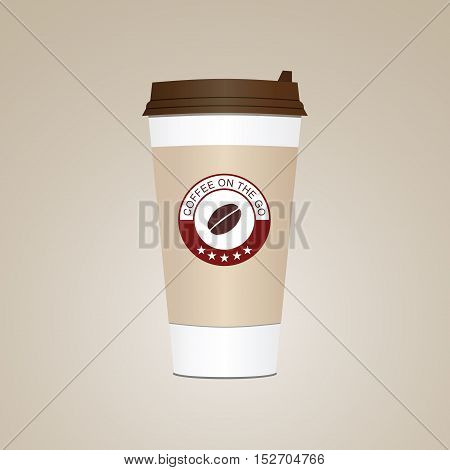 Coffee Cup. Take Away Paper / Plastic Coffee Cup Vector Illustration