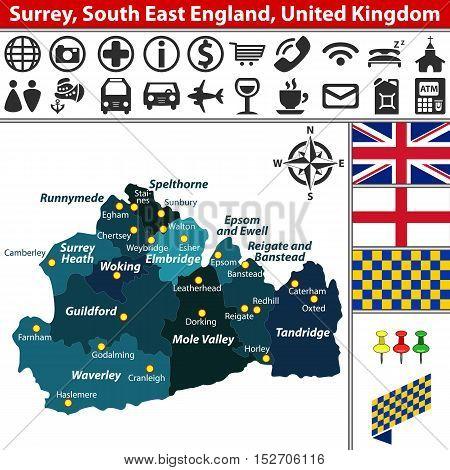 Surrey, South East England, Uk