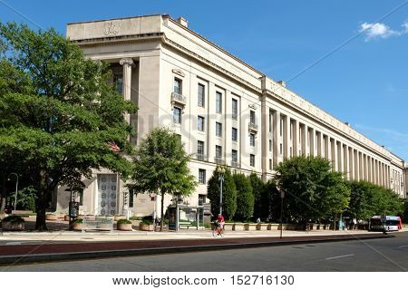 WASHINGTON D.C.,USA - AUGUST 11,2016 : The United States Department of Justice in Washington D.C.