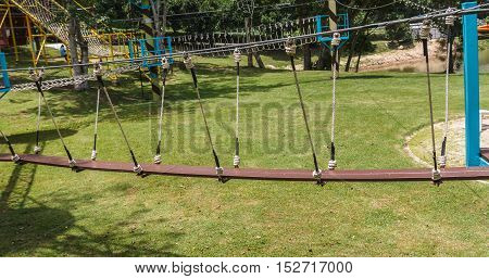Rope bridge for activities in the Attractions