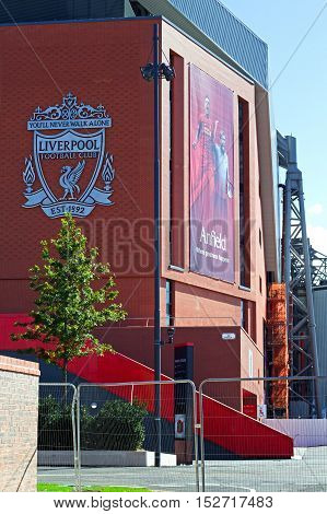 LIVERPOOL UK 17TH SEPTEMBER 2016. Liverpool Football Club's new £114 million stand