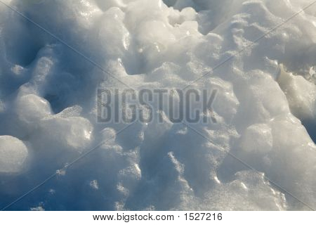 thaw of blanket of snow in spring poster
