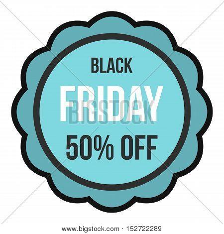 Black Friday sale sticker icon. Flat illustration of Black Friday sale vector icon for web design