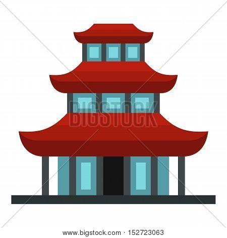 Buddhist temple icon. Flat illustration of buddhist temple vector icon for web design