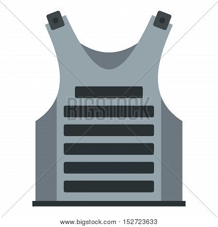 Paintball vest icon. Flat illustration of vest vector icon for web design