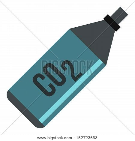 CO2 bottle icon. Flat illustration of CO2 bottle vector icon for web design